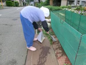 水穴団地ゴミ捨て場美化 「地域貢献になれば・・・」